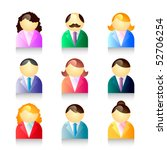 people icons set | Shutterstock .eps vector #52706254