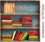old books on the background of... | Shutterstock . vector #527072662