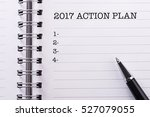 new year concept action plan | Shutterstock . vector #527079055
