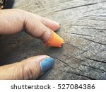 Small photo of Medical adhesive with hand