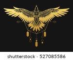 Soaring Bird Of Prey. Gold...