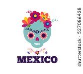 mexico pattern. skull and... | Shutterstock .eps vector #527086438