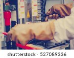 engineer working on checking... | Shutterstock . vector #527089336