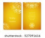 wedding card or invitation.gold ... | Shutterstock .eps vector #527091616