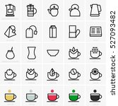 tea icons | Shutterstock .eps vector #527093482
