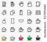 tea icons | Shutterstock .eps vector #527093482