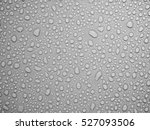 Water Drops On Gray Background.