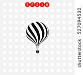 Icon Of Hot Air Balloon On Gra...