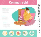 common cold. infographics  the... | Shutterstock .eps vector #527099536