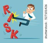 businessman breaking word risk... | Shutterstock .eps vector #527101426