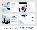 geometric background template... | Shutterstock .eps vector #527102308