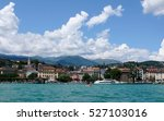 lago maggiore and village with... | Shutterstock . vector #527103016