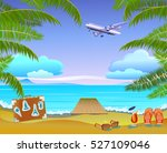 summer vacation and travel... | Shutterstock .eps vector #527109046