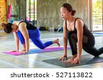asian trainee strong woman...   Shutterstock . vector #527113822