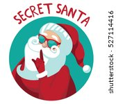 cartoon secret santa christmas... | Shutterstock .eps vector #527114416
