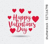 happy valentines day card with... | Shutterstock .eps vector #527116798
