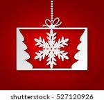 red christmas gift background... | Shutterstock .eps vector #527120926