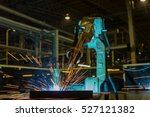 robot welding automotive part... | Shutterstock . vector #527121382