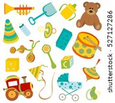 set of icons of toys for... | Shutterstock .eps vector #527127286