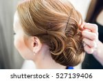 hairdresser cut hair | Shutterstock . vector #527139406