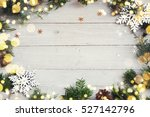 christmas background on the... | Shutterstock . vector #527142796