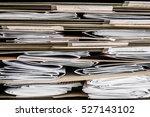stack of papers  bills ...   Shutterstock . vector #527143102