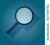 big data   binary data search... | Shutterstock .eps vector #527144752