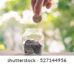 putting coins concept of... | Shutterstock . vector #527144956