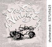retro vector vintage cars | Shutterstock .eps vector #527145625