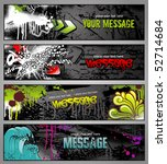 set of four graffiti style...   Shutterstock .eps vector #52714684