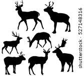 silhouette of a deer  a set of... | Shutterstock .eps vector #527148316