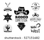 wild west. set of vintage rodeo ... | Shutterstock .eps vector #527151682