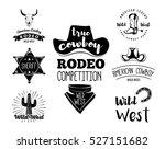 wild west. set of vintage rodeo ... | Shutterstock .eps vector #527151682