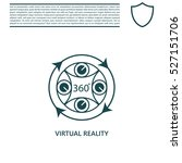 virtual reality icon | Shutterstock .eps vector #527151706