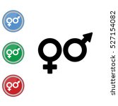 web line icon. gender symbol ... | Shutterstock .eps vector #527154082