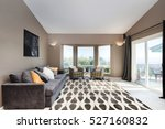 modern living room in brown... | Shutterstock . vector #527160832