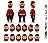 man character for your scenes... | Shutterstock .eps vector #527166688