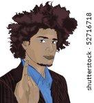 african american guy   Shutterstock .eps vector #52716718