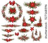 merry christmas and happy new... | Shutterstock . vector #527168596