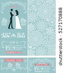 wedding invitation set.winter... | Shutterstock . vector #527170888
