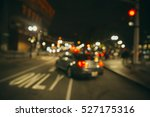 traffic on the night city...   Shutterstock . vector #527175316
