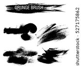 vector set of grunge brush... | Shutterstock .eps vector #527175862