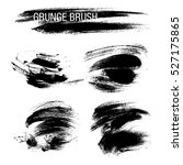 vector set of grunge brush... | Shutterstock .eps vector #527175865