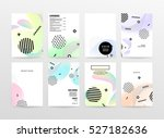 geometric background template... | Shutterstock .eps vector #527182636