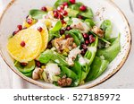 fresh salad with chicken ... | Shutterstock . vector #527185972