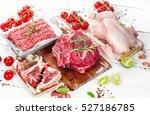 raw meat | Shutterstock . vector #527186785