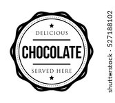chocolate vintage stamp vector | Shutterstock .eps vector #527188102