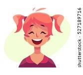 teen girl face  laughing facial ... | Shutterstock .eps vector #527189716
