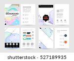geometric background template... | Shutterstock .eps vector #527189935