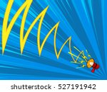comic magazine loudspeaker... | Shutterstock .eps vector #527191942